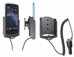 Support voiture  Brodit HTC Desire 500  avec chargeur allume cigare - Avec rotule orientable. Réf 512563