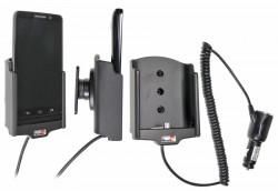 Support voiture  Brodit Motorola Droid Mini  avec chargeur allume cigare - Avec rotule orientable. Réf 512569