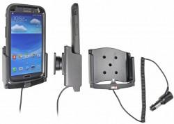 Support voiture  Brodit Samsung Galaxy Mega 6.3  avec chargeur allume cigare - Avec rotule. Pour  étui Otterbox Defender (non livré). Réf 512572