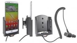 Support voiture  Brodit LG G2  avec chargeur allume cigare - Avec rotule orientable. Réf 512576