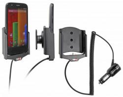 Support voiture  Brodit Motorola Moto G  avec chargeur allume cigare - Avec rotule orientable. Réf 512599