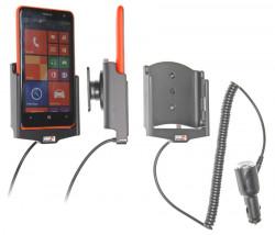 Support voiture  Brodit Nokia Lumia 625  avec chargeur allume cigare - Avec rotule orientable. Réf 512603