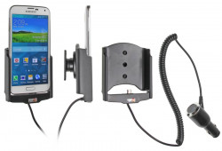 Support voiture  Brodit Samsung Galaxy S5  avec chargeur allume cigare - Avec rotule orientable. Réf 512623