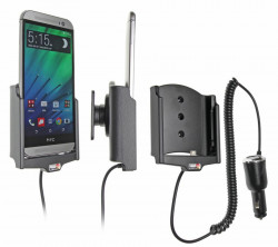 Support voiture  Brodit HTC One (M8)  avec chargeur allume cigare - Avec rotule orientable. Réf 512624