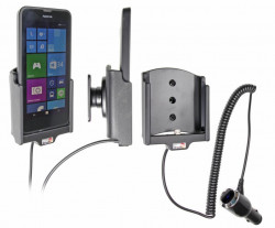 Support voiture  Brodit Nokia Lumia 630  avec chargeur allume cigare - Avec rotule orientable. Réf 512643