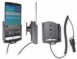 Support voiture  Brodit LG G3  avec chargeur allume cigare - Avec rotule orientable. Réf 512645