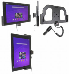 Support voiture  Brodit Sony Xperia Z2 Tablet  avec chargeur allume cigare - Avec rotule orientable. Réf 512655