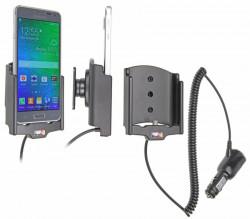 Support voiture  Brodit Samsung Galaxy Alpha  avec chargeur allume cigare - Avec rotule orientable. Réf 512658