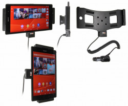 Support voiture  Brodit Sony Xperia Z3 Tablet Compact  avec chargeur allume cigare - Avec rotule orientable. Réf 512692