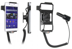 Support voiture  Brodit Sony Xperia M2  avec chargeur allume cigare - Avec rotule orientable. Réf 512696