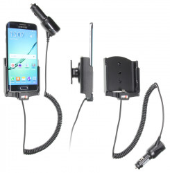 Support voiture  Brodit Samsung Galaxy S6 edge  avec chargeur allume cigare - Avec rotule orientable. Réf 512731