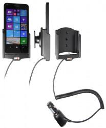 Support voiture  Brodit Microsoft Lumia 640  avec chargeur allume cigare - Avec rotule orientable. Réf 512746