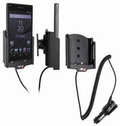 Support voiture  Brodit Sony Xperia Z5 Compact  avec chargeur allume cigare - Avec rotule orientable. Réf 512797