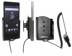 Support voiture  Brodit Sony Xperia Z5  avec chargeur allume cigare - Avec rotule orientable. Réf 512811