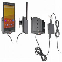Support voiture  Brodit Sony Xperia Z3+  installation fixe - Avec rotule, connectique Molex. Chargeur 2A. Réf 513751