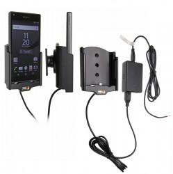 Support voiture  Brodit Sony Xperia Z5 Compact  installation fixe - Avec système de connecteur Molex. Chargeur 2A. Avec rotule. Réf 513797
