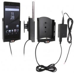 Support voiture  Brodit Sony Xperia Z5  installation fixe - Avec système de connecteur Molex. Chargeur 2A. Avec rotule. Réf 513811