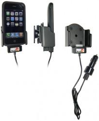 Support voiture  Brodit Apple iPhone 3G  avec chargeur allume cigare - Avec rotule. Avec câble USB. Chargeur approuvé par Apple. Fixation réglable, convient dispositifs avec des étui. Réf 521106