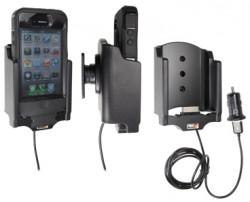 Support voiture  Brodit Apple iPhone 4  avec chargeur allume cigare - Avec rotule. Avec câble USB. Chargeur approuvé par Apple. Pour  étui Otterbox Defender (non livré). Réf 521378