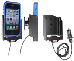 Support voiture  Brodit Apple iPhone 4  avec chargeur allume cigare - Avec rotule. Avec câble USB. Chargeur approuvé par Apple. Pour Otterbox Commuter Series. Réf 521379