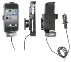 Support voiture  Brodit Apple iPhone 3G/3GS, 4/4S, Touch (gen. 1 à 4)  avec chargeur allume cigare - Avec rotule. Avec câble USB. Chargeur approuvé par Apple. Pour appareil avec ou sans l'étui. Réf 521410