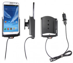 Support voiture  Brodit Samsung Galaxy Note II GT-N7100  avec chargeur allume cigare - Avec rotule. Avec câble USB. Réf 521432