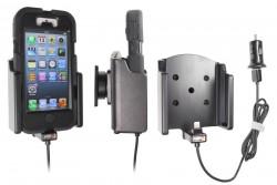 Support voiture  Brodit Apple iPhone 5 avec chargeur allume cigare - Avec rotule. Avec câble USB. Chargeur approuvé par Apple. Pour étui Griffin Survivor All-Terrain. Réf 521512