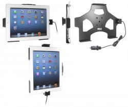 Support voiture  Brodit Apple iPad New 4th Gen  avec chargeur allume cigare - Avec rotule. Avec câble USB. Chargeur approuvé par Apple. Réf 521520