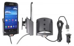 Support voiture  Brodit Samsung Galaxy S4 Mini GT-I9195  avec chargeur allume cigare - Avec rotule. Avec câble USB. Réf 521544