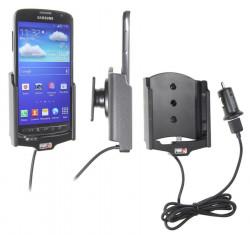 Support voiture  Brodit Samsung Galaxy S4 Active GT-I9295  avec chargeur allume cigare - Avec rotule. Avec câble USB. Réf 521545