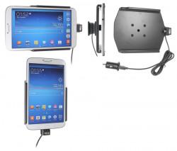 Support voiture  Brodit Samsung Galaxy Tab 3 8.0 SM-T3100  avec chargeur allume cigare - Avec rotule. Avec câble USB. Réf 521548