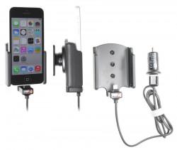 Support voiture  Brodit Apple iPhone 5C  avec chargeur allume cigare - Avec rotule. Avec câble USB. Chargeur approuvé par Apple. Réf 521562