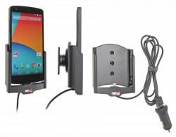 Support voiture  Brodit LG Nexus 5  avec chargeur allume cigare - Avec rotule. Avec câble USB. Réf 521578