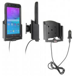 Support voiture Brodit Samsung Galaxy Note 4 avec chargeur allume cigare - Avec rotule et le câble USB. UNIQUEMENT pour étui Otterbox Defender (non livré). Réf 521694