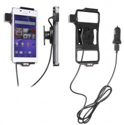 Support voiture  Brodit Sony Xperia M2  avec chargeur allume cigare - Avec rotule. Avec câble USB. Réf 521696