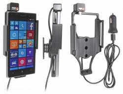 Support voiture  Brodit Nokia Lumia 830  avec chargeur allume cigare - Avec rotule. Avec câble USB. Réf 521702
