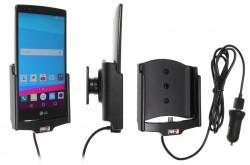 Support voiture  Brodit LG G4  avec chargeur allume cigare - Avec rotule. Avec câble USB. PAS pour la couverture arrière en cuir. Réf 521750
