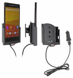 Support voiture  Brodit Sony Xperia Z3+  avec chargeur allume cigare - Avec rotule. Avec câble USB. Réf 521751