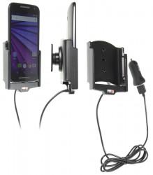 Support voiture  Brodit Motorola Moto G (3rd Gen)  avec chargeur allume cigare - Avec rotule. Avec câble USB. Réf 521761