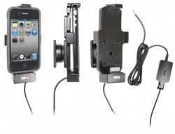 Support voiture  Brodit Apple iPhone 3G  installation fixe - Avec rotule. Pour appareil avec ou sans l'étui. Chargeur approuvé par Apple. Réf 527410