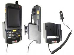 Support voiture  Brodit Motorola MC70  avec chargeur allume cigare - Avec rotule. Conception mince avec chargeur intégré dans le support. Pour appareil avec batterie standard et étendu. Réf 530044