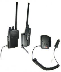 Support voiture  Brodit Motorola GP 344  avec chargeur allume cigare - Conception mince avec chargeur intégré dans le support. Pour une utilisation avec des batteries Li-ion ou Li-Poly. Réf 530144