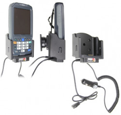 Support voiture  Brodit Intermec CN50  avec chargeur allume cigare - Avec rotule. Conception mince avec chargeur intégré dans le support et avec USB On-The-Go connectivité. Réf 530146