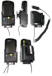 Support voiture  Brodit Motorola MC55  avec chargeur allume cigare - Avec rotule. Conception mince avec chargeur intégré dans le support et avec USB On-The-Go connectivité. Réf 530180