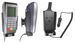 Support voiture  Brodit VeriFone VX 680  avec chargeur allume cigare - Avec rotule. Conception mince avec chargeur intégré dans le support. Réf 530304