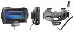 Support voiture  Brodit Motorola ET1  avec chargeur allume cigare - Conception mince avec chargeur intégré dans le support. Convient unité à la fois avec et sans dragonne. Réf 530355