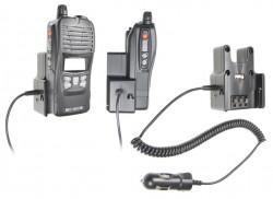 Support voiture  Brodit Commaster 70-serie  avec chargeur allume cigare - Conception mince avec chargeur intégré dans le support. Pour une utilisation avec des batteries Li-ion ou Li-Poly. Réf 530364