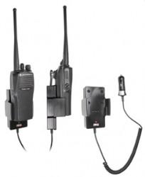 Support voiture  Brodit Motorola Radius CP200  avec chargeur allume cigare - Conception mince avec chargeur intégré dans le support. Pour une utilisation avec des batteries Li-ion ou Li-Poly. Réf 530367