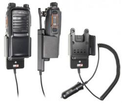 Support voiture  Brodit Hytera PD702  avec chargeur allume cigare - Conception mince avec chargeur intégré dans le support. Réf 530390