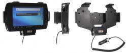 Support voiture  Brodit Motorola ET1  avec chargeur allume cigare - Conception mince avec chargeur intégré dans le support. Convient unité à la fois avec et sans dragonne. Réf 530411
